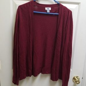 Old Navy Sweaters - Old navy thin cardigan burgundy red large